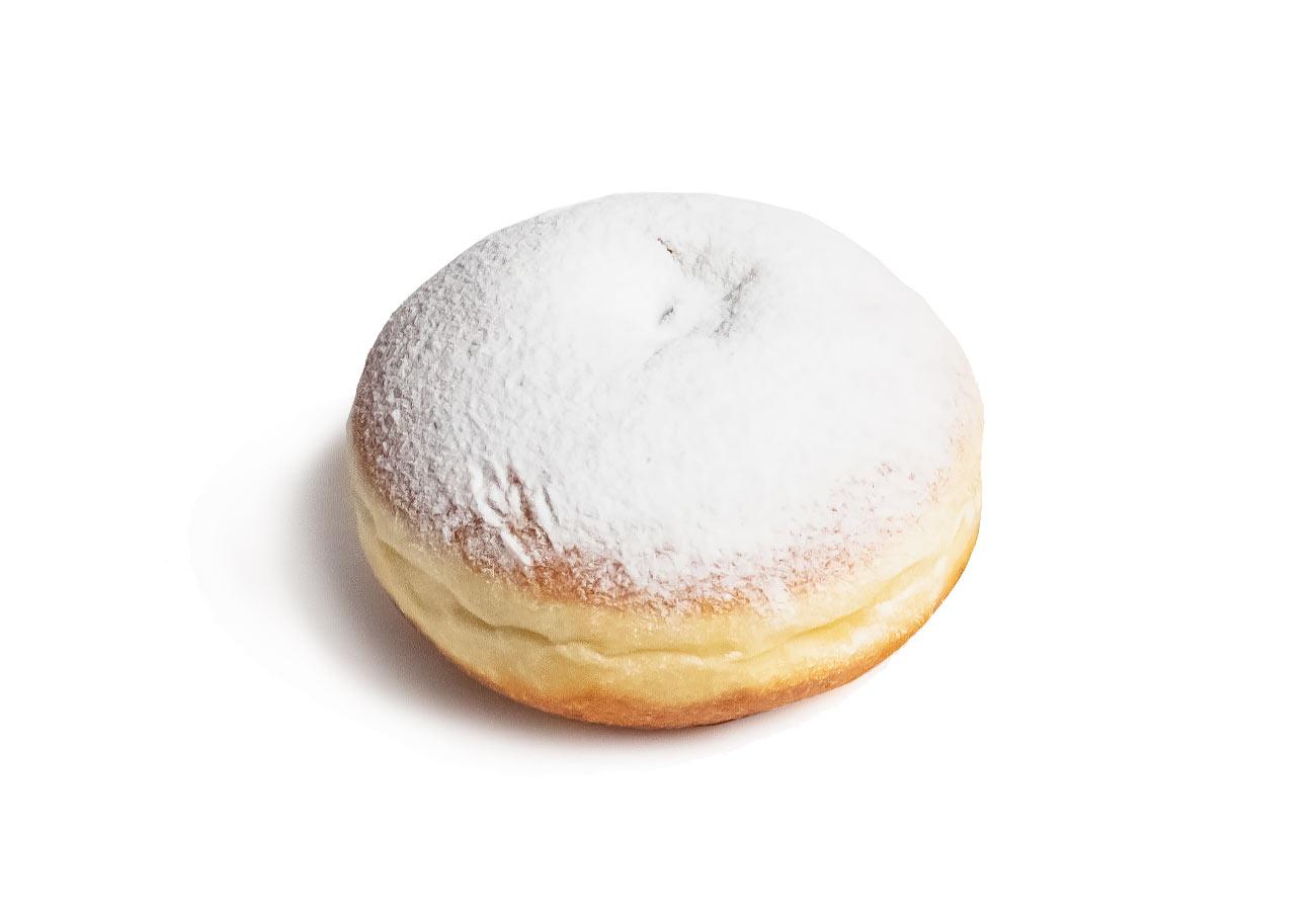 Пончик с клубничным джемом